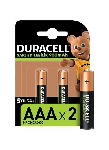 Duracell Duracell Dayanıklı 2'Li Tekrar Şarj Edilebilir Aaa 900 Mah Pil Renkli